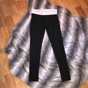 Victoria's Secret fold-over cotton leggings